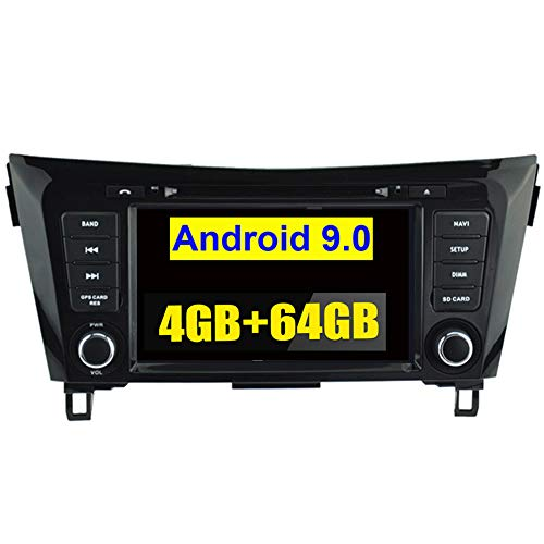Autosion Android 9.0 64GB +4G Car DVD Player GPS Stereo Head Unit Navi Radio Stereo WiFi for Nissan X-Trail Rogue Qashqai 2014 2015 2016 2017 2018 Support Steering Wheel Control