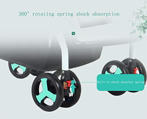 RAPLANC Baby stroller for 2020, Foldable stroller, Travel system, with extra storage space, four-wheel shock absorption, high view and stylish stroller,Blue RAPLANC Lightweight – A lightweight stroller makes any outing a little easier! The Convenience Stroller has a durable Aluminum frame that weighs just 9 pounds and has a large seat area, plus anti-shock front wheels and lockable rear wheels. 3-Position Recline – Keep your little one comfortable and safe at all times with the 3 position recline and 5 point safety harness. Compact Foldable Stroller – The easy compact fold with carry strap and auto lock makes it simple to store this lightweight umbrella stroller and bring it with you to go! Plus, the adjustable and removable canopy with flip out sun visor is perfect for sunny days. 2