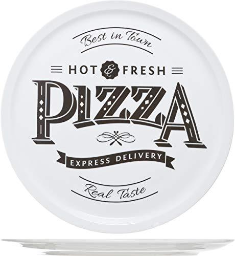 Cosy & Trendy 4562420hot-fresh Pizza Teller, Keramik, weiß, 30cm