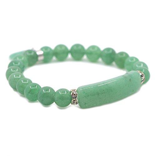 Semi-Precious Gemstone Heart Charm Bracelet by Justinstones