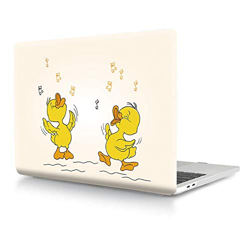 HRH for MacBook Air 13 inch Case(M1 A2337/A2179/A1932,2020-2018) Cool 3D Print Design Laptop Body Shell PC Plastic Hard Case Cover for Mac Air 13.3 inch with Retina Display Touch ID-Music Yellow Duck
