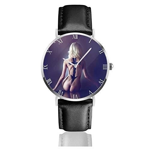 Relojes Anolog Negocio Cuarzo Cuero de PU Amable Relojes de Pulsera Wrist Watches Bastante Imprudente
