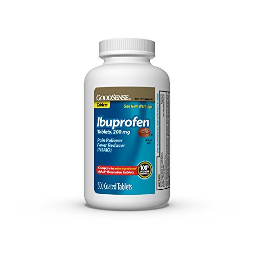 GoodSense Ibuprofen Tablets 200 mg Pain Reliever/Fever Reducer 500 Count Pack of 1