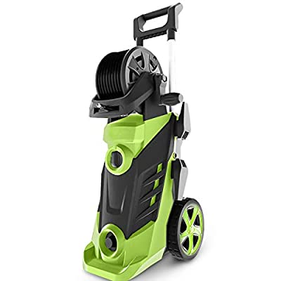 Homdox 3500 PSI Pressure Washer 2.6GPM 1800W Electric Power Washer with Hose Reel, 5 Quick-Connect Spray Tips