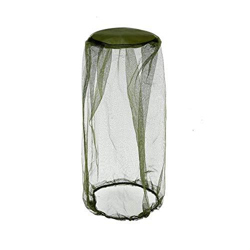 Olive Green Head Net Mesh, Mosquito Netting, Bug Face Shield, Bucket Insect Repellent Fly Screen for Camping, Hiking, Traveling, Fishing, Beekeeping and Gardening Protection for Any Outdoor Lover