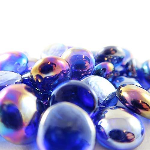 Glass Gaming Stones Chessex Black Opal Iridized (40)