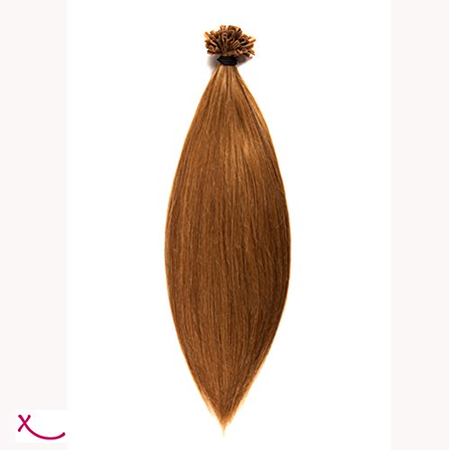 Extiff - Extension cheveux naturel keratine - 20 extensions de 25 cm - 26 couleurs (8 - Blond Cendré)