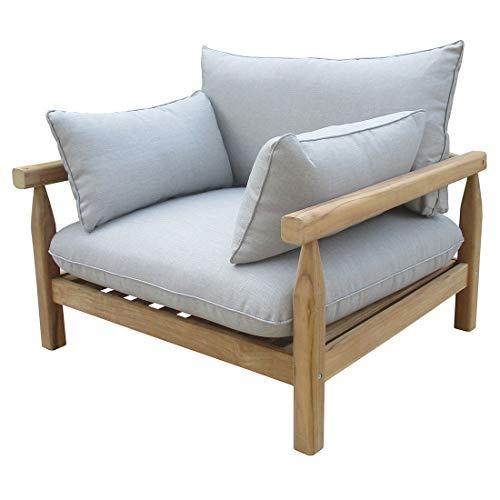 OUTLIV Firenze Loungesessel für den Garten mit Gestell aus Teakholz und Polstern aus Polyester…