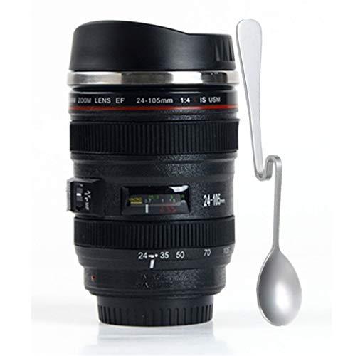 Camera Lens Coffee Mug125 Oz  Exact Replica of Canon EF 24105mm Travel Lens Mug Comes with Premium SpoonBPA Free Photo Coffee Mugs Thermos Gift for PhotographersChasing YEC
