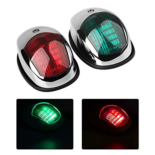 Osinmax Boat Navigation Light, Marine Navigation Lights, Bow Light for Boats Led. Ideal for Pontoon and Small Boat (Silver)