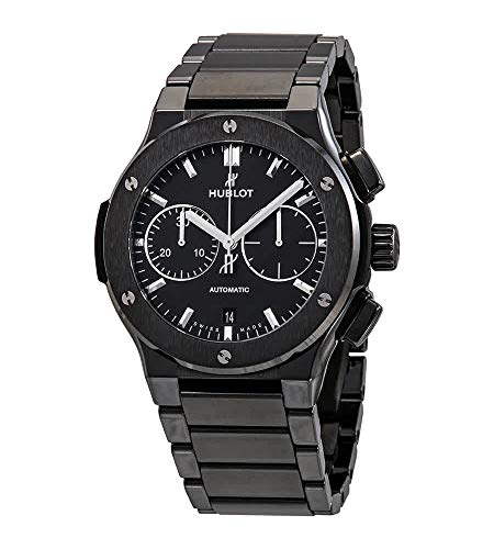 Hublot Black Ceramic Classic Fusion Chronograph 45mm Mens Watch 520.cm.1170.cm