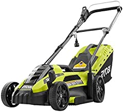 Ryobi Corded Electric Push Mower 13 in. 11 Amp with Single Point Height Adjustment