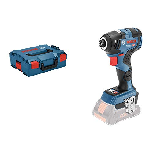 Bosch Professional 18V System Akku Drehschlagschrauber GDR 18V-200 C (max. Drehmoment: 200 Nm, Connect Ready, in L-Boxx)