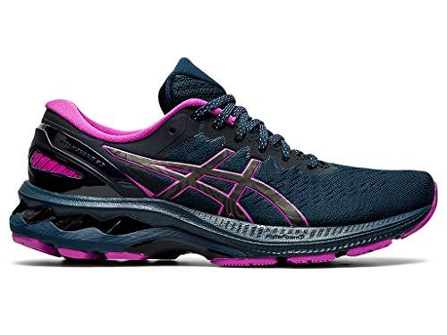 ASICS Women's Gel-Kayano 27 Lite-Show Running Shoes, 7, French Blue/LITE-Show