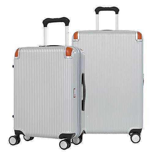 [スイスミリタリー] Geneva ジュネーブ スーツケース 5セット Type C92 SET Sサイズ Mサイズ キャリーオンバッグ スーツケースカバー TSAロック [SWISS MILITARY]/S(20インチ 34L)+M(26インチ 69L)