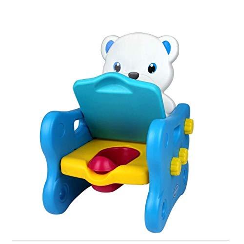 Vasino per Bambini Orso Blu Tre-in-one Gabinetto Bambino Vasino Allenatore Bambino Portatile Gabinetto Blu 36 * 40 * 54 Cm
