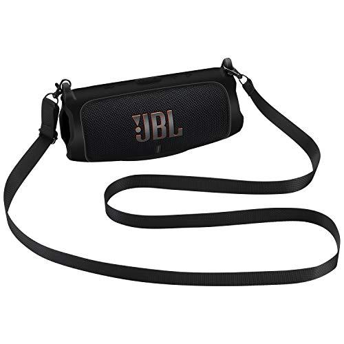 Seracle Funda de Silicona Protectora para JBL Charge 5 Altavoz inalámbrico portátil con Bluetooth (Negro)