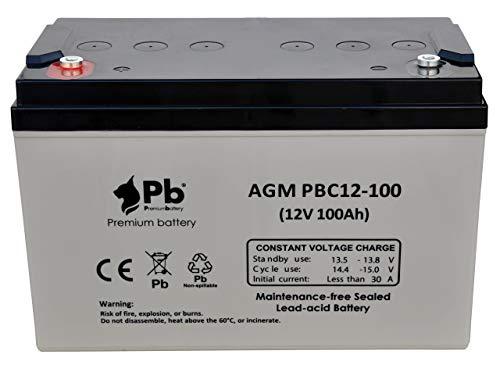 Batería AGM ciclo profundo 12V 100Ah PBC12-100