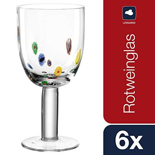 Leonardo 017190 Millefiori Set de 6 Verres à Vin Rouge