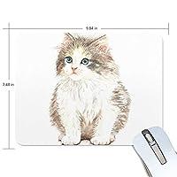 かわいい動物 ネコ マウスパッド 滑り止めゴム製裏面 おしゃれ 厚くした 事務用のマウスパッド 携帯用 25X19CM