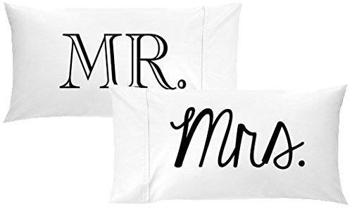 Oh, Susannah Mr and Mrs Pillow Cases Gift for Couples Wedding...