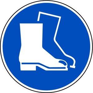 LEMAX® Schild PVC Fußschutz benutzen nach ISO 7010 ISO-M008 200mm