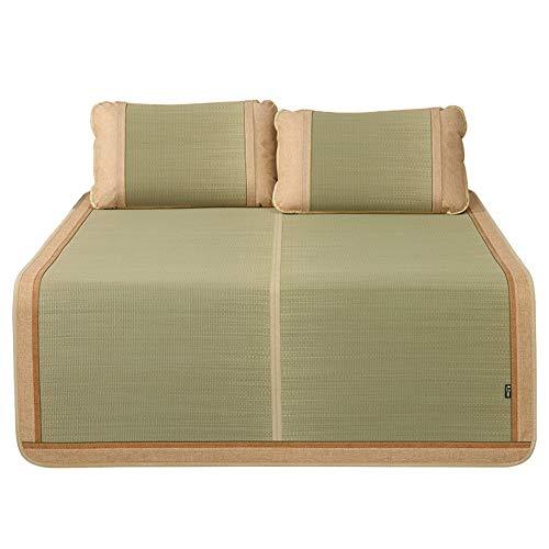 Bamboo Summer Sleeping Enfriamiento Colchonetas De Colchón Almohadillas De Ratán Suave Aire Acondicionado Cama Plegable Plegable Fresco Colchones (Size : 150X195CM)