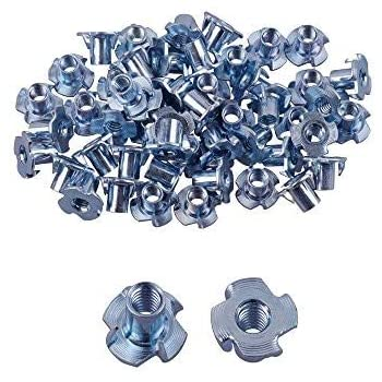 M10x0.75x3mm Zinc Plated Hex Nuts Fastener 50pcs for Screws Bolts