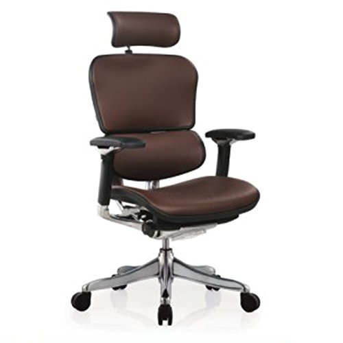Ergohuman Executive Chairs (with Black Frame. Brown Leather)
