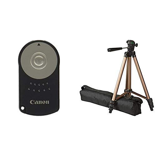 Canon RC-6 Infrarot-Fernauslöser & AmazonBasics Dreibein Stativ 127 cm leicht mit 3-Wege Kopf