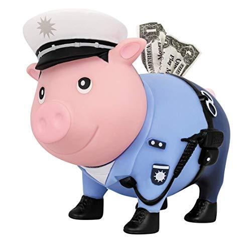 BIGGYS Polizist, Sparschwein LILALU Kopfdrehbar Spardose sparsau spareschwein goldschwein spaar Schwein spardose Namen