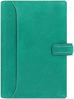 Filofax Lockwood Personal Size Leather Organizer Calendar Agenda with DiLoro Jot Pad Refill  Personal  Aqua  2018 021686