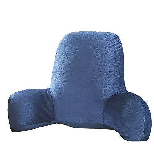 Hrtc Almohada De Lectura Lectura De Cama, Forma De T, Cojín Lumbar, No Se Deforma (Azul)