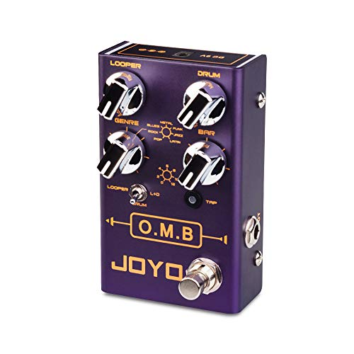 JOYO O.M.B R-06 R Series Looper & Drum Machine Pedal Multi-Mode (LOOPER Cycle Recording/Drum Machine/LOOPER+Drum) for Electric Guitar Effect (R-06)