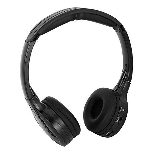 Schnurloser Kopfhörer, Auto Power Mute Ergonomischer Infrarot-Kopfhörer, Stereo-Audio für DVD-Auto