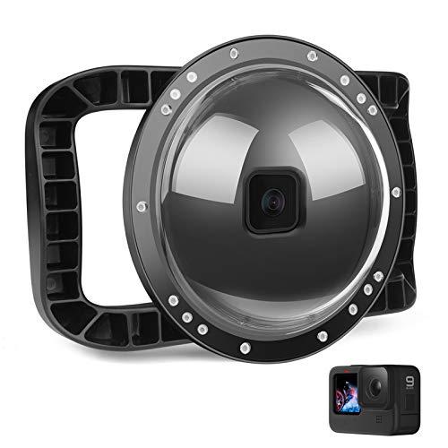 D&F Unterwasser Dome Port für GoPro Hero 9 Black, Integrierter Gehäusekuppel mit Zwei Händen und 45m/147ft Wasserdichtes, professionelles Tauchzubehör