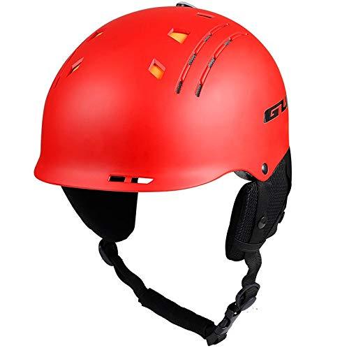 DADONG Casco de esquí multifuncional MTB bicicleta deportes Ciclismo Casco de seguridad Caballo Integralmente moldeado Nieve Snowboard Casco Adulto L (58-60cm) Rojo