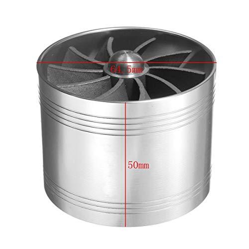 LnNcWcD Universal-64.5mm x 50mm Auto Luftfilter Einblasventilator Brenngas-Retter Kompressor for Turbinenturbolader Turbolader (Color : Silver)