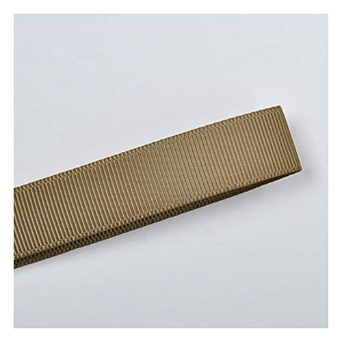 JIWEIER Cinta poliéster Acanalado Cinta 22 mm Ropa Interior decoración Material marrón Fuentes de Costura de Bricolaje (Size : 840)