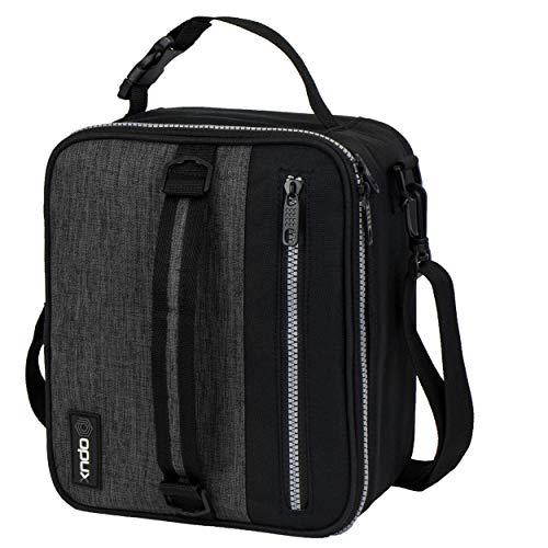 OPUX - Fiambrera aislante para hombre, bolsa de almuerzo escolar para niños, niños, compacto para adultos, enfriador de oficina, suave, a prueba de fugas, 4 formas de llevar, se...