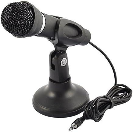 eDealMax conector estéreo de 3,5 mm Multimedia condensador vocal pie de micrófono para PC