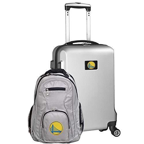 NCAA Deluxe 2-teiliges Rucksack und Handgepäck-Set, Marineblau, Deluxe 2-Piece Backpack & Carry-On Set, Silver, Silber, 24 x 15