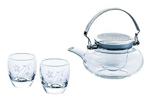 東洋佐々木ガラス 冷酒の器 地路利約360ml、杯100ml 酒グラスコレクション 日本製 G604-M74 3点入り