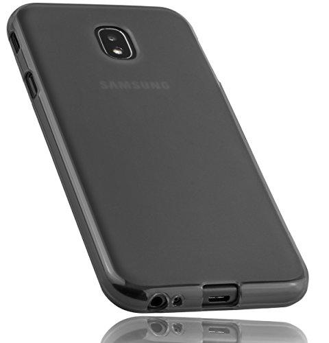 mumbi Funda Compatible con Samsung Galaxy J3 2017 Caja del teléfono móvil, Negro Transparente
