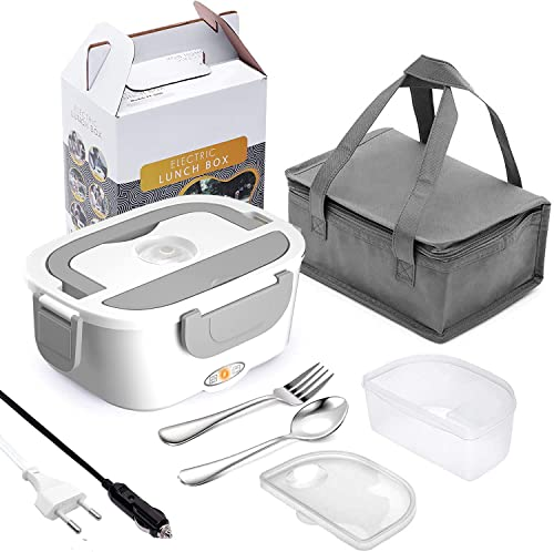 borsa termica elettrica per auto Scaldavivande Elettrico 3 in 1 Lunch Box Portatile 12V 24V 220V 1