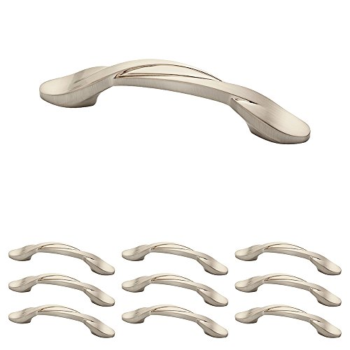 Franklin Brass P35518K-SN-B1 Curved Kitchen Cabinet Drawer Handle Pull, 3 Inch, Brushed Nickel, 25 Count