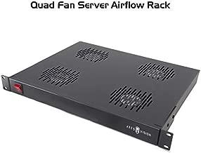 Ares Vision Quad Cooling Fans for 19'' Wide Standard Server Cabinet/Rack MAX Airflow