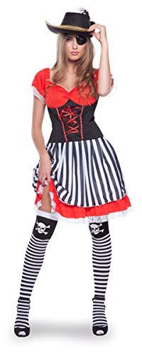 Folat 63324Pirata Disfraz de los años 60para Mujer (2Piezas, Talla L/XL)