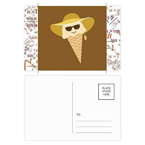 Postkarten-Set mit Hut und Brillenkopf, 20 Stück
