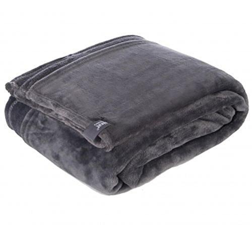 1 Nr. wärmespeichernde Snuggle Ups Thermo-Winter Warme, weiche Decke/Überwurf aus Fleece, antik-silber-grau